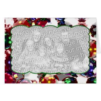 Cartão Ornamento gelados (quadro da foto)