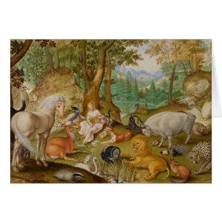 Cartão Orpheus que encanta os animais,