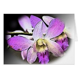 Cartão Orquídea-Estilizado