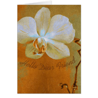 Cartão Orquídea nas máscaras da laranja