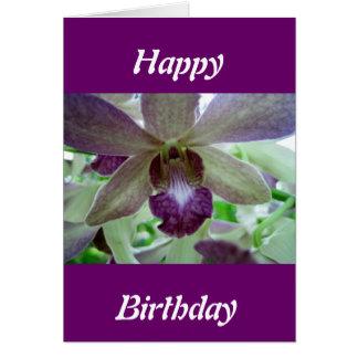 Cartão Orquídea roxa e branca