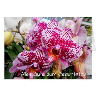 Cartão Orquídeas brancas e cor-de-rosa Geburtstag do