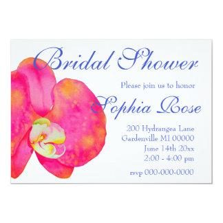 Cartão Orquídeas cor-de-rosa - chá de panela