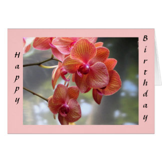 Cartão Orquídeas do aniversário