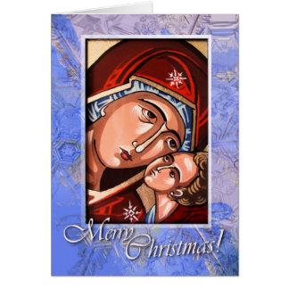 Cartão ortodoxo da natividade