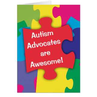 Cartão Os advogados do autismo são impressionantes