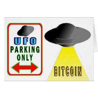 Cartão Os aliens querem Bitcoin demasiado