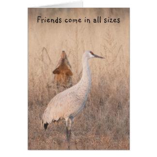 Cartão Os amigos vêm em todos os tamanhos