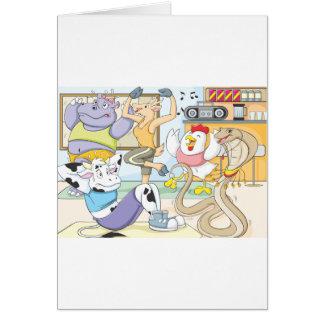 Cartão Os animais bonitos elaboram na malhação da camisa