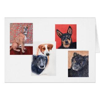 Cartão Os animais de estimação cardam por Mary Dunham