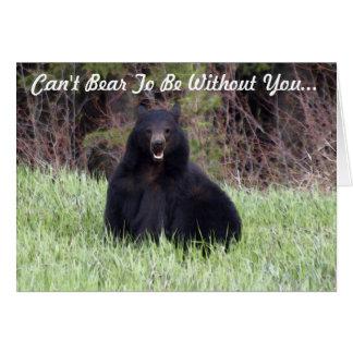 """Cartão Os animais selvagens do urso preto """"não podem"""