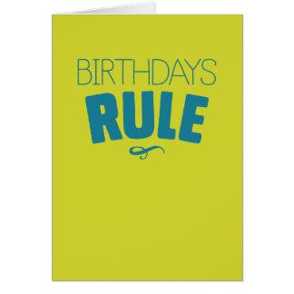Cartão Os aniversários ordenam - e assim que faz I para