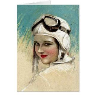 Cartão os anos 20 Flygirl por C.G. Sheldon