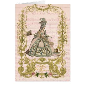 Cartão Os artigos de papelaria do pêssego de Marie