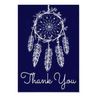 Cartão Os azuis marinhos agradecem-lhe nativo americano