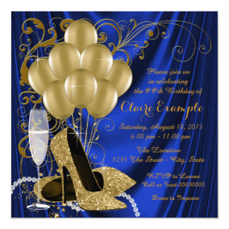 Cartão Os azuis marinhos da mulher e a festa de