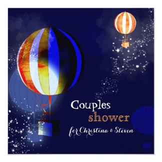 Cartão Os balões de ar quente que nivelam o chá dos