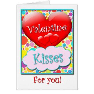 Cartão Os beijos dos namorados para você Coração-Encheram