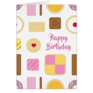 Cartão Os biscoitos retros & os bolos personalizaram o