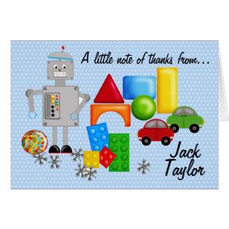 Cartão Os brinquedos Notecards de um menino