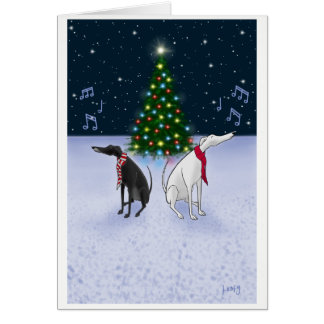 Cartão Os cães da canção de natal