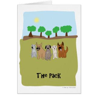 Cartão Os cães do bloco - pata da atração