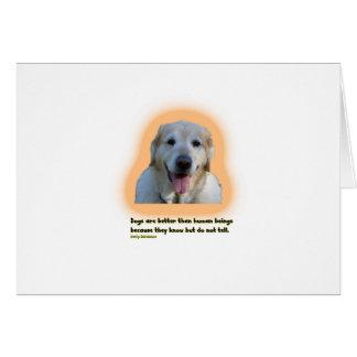 Cartão Os cães são melhores do que seres humanos