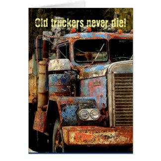 Cartão Os camionistas nunca morrem