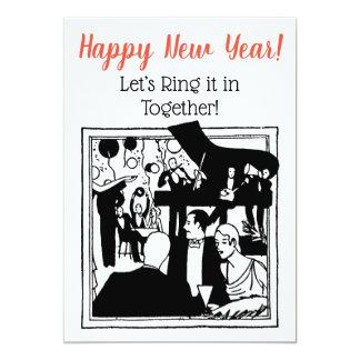 Cartão Os casais de ano novo que comemoram a arte do