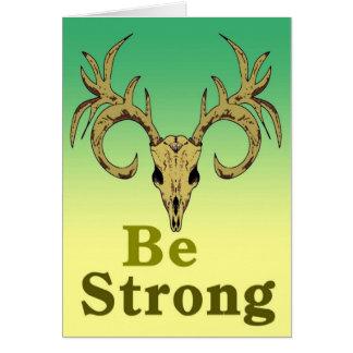 Cartão Os cervos do crânio sejam citações fortes