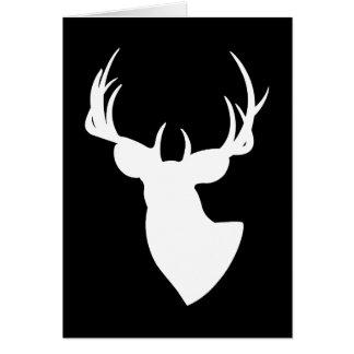 Cartão Os cervos mostram em silhueta o feliz aniversario