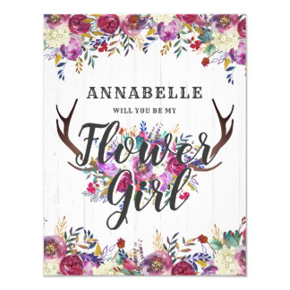 Cartão Os cervos que florais os Antlers o querem sejam