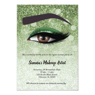 Cartão Os chicotes glam verdes eyes o maquilhador de |