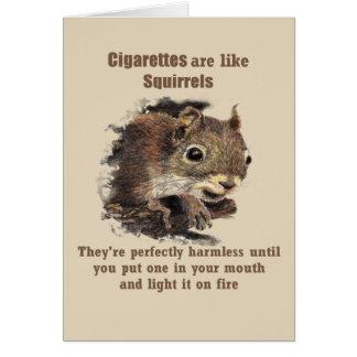 Cartão Os cigarros são como o fumo parado divertimento