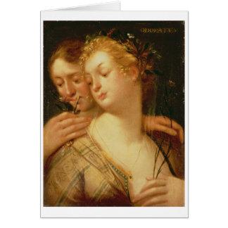 Cartão Os cinco sentidos: Cheiro