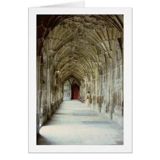 Cartão Os claustros da catedral de Gloucester, 12o centur