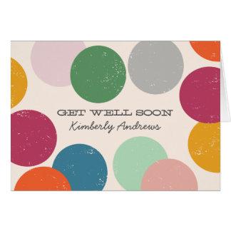 Cartão Os confetes personalizados de | obtêm bem logo