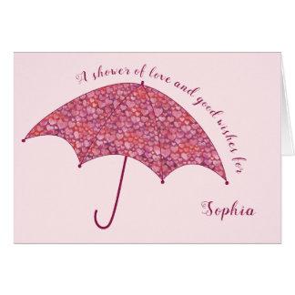 Cartão Os corações adicionam um cumprimento nupcial