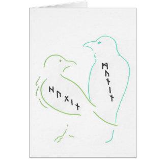Cartão Os corvos de Odin