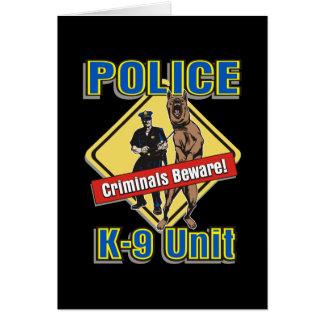 Cartão Os criminosos K9 Beware