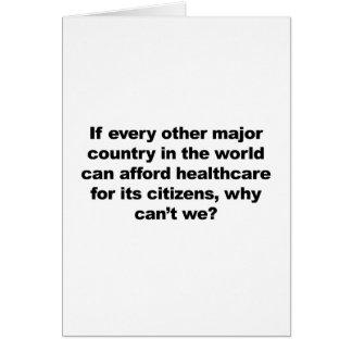 Cartão Os cuidados médicos, por que não podem nós?