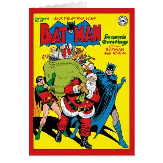 Cartão Os cumprimentos da estação de Batman e do pisco de