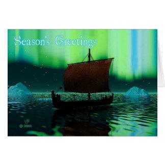 Cartão Os cumprimentos da estação - navio de Viking