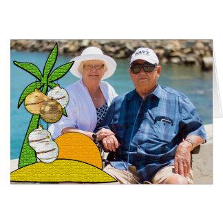 Cartão Os cumprimentos de Seaon de Florida personalizaram