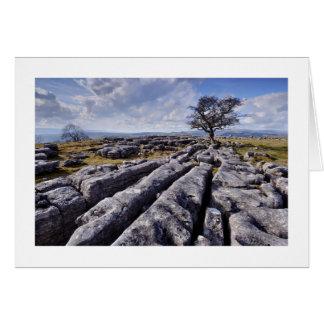 Cartão Os Dales de Yorkshire - país da pedra calcária