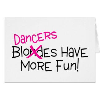 Cartão Os dançarinos têm mais divertimento