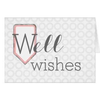 Cartão Os desejos do poço | obtêm ao poço logo | o papel