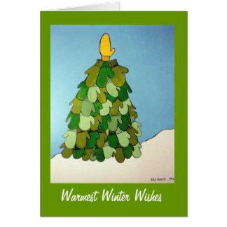 Cartão Os desejos os mais mornos do inverno