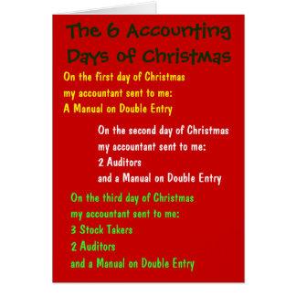 Cartão Os dias de contabilidade do contador do Natal