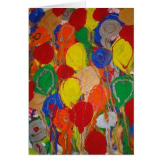 Cartão Os doces molham o aniversário do artista do